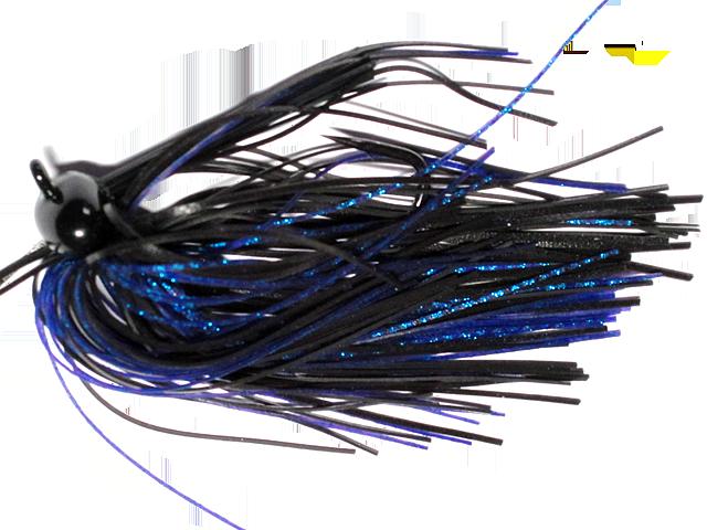 Old Jiggers Copperhead Weedless Football Jig - Black Blue Purple