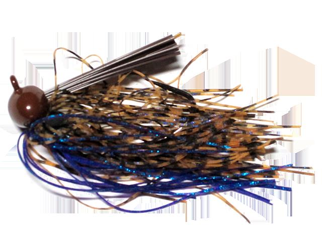 Old Jiggers Copperhead Weedless Football Jig - Peanut Butter Blueberry