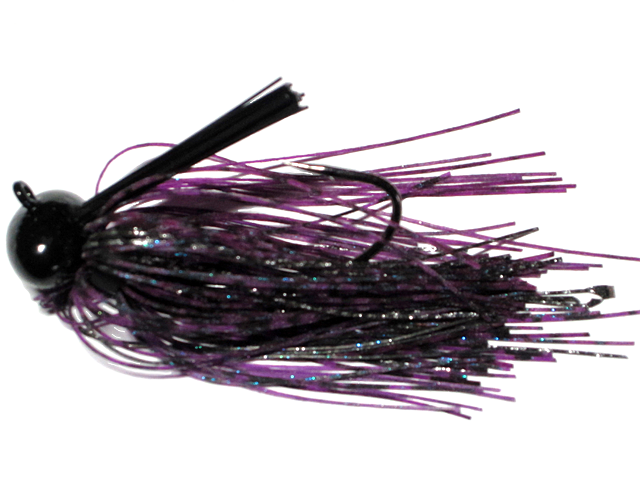 Old Jiggers Copperhead Weedless Football Jig - Purple Haze