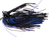 Old Jiggers Copperhead Weedless Football Jig - Black Blue Purple