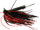 Old Jiggers Copperhead Weedless Football Jig - Black Red